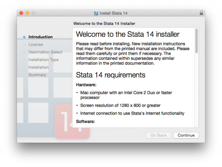Stata requirements…