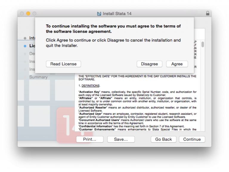 Software license agreement…