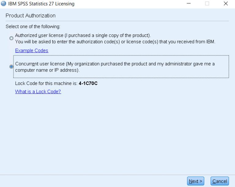 Concurrent user license option