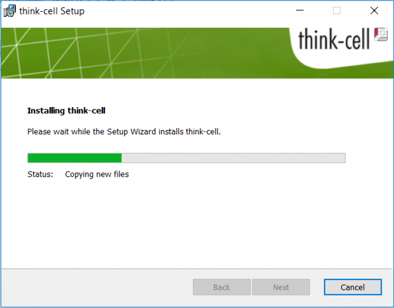 Installing Think Cell