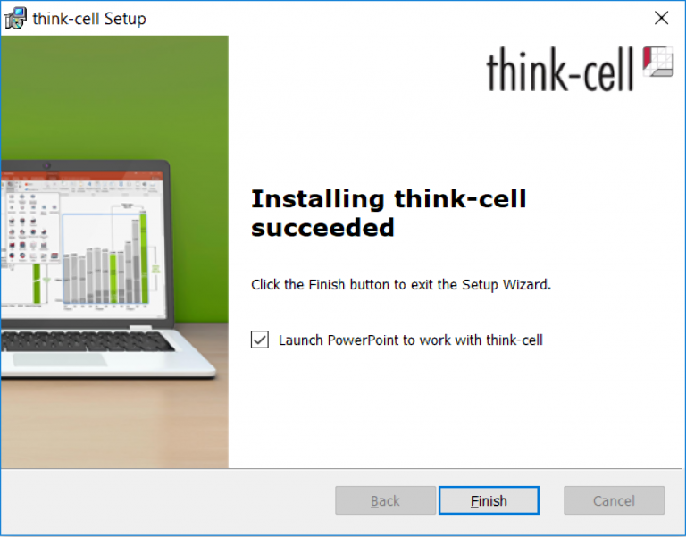 Installing Think-cell succeeded