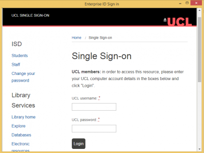 Creative Cloud Installer - Sign in with your UCL credentials