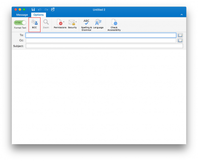 show bcc in outlook for mac 2011