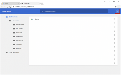 Backing up Chrome bookmarks step 3 screenshot