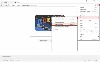 Restoring Chrome bookmarks step 2 screenshot