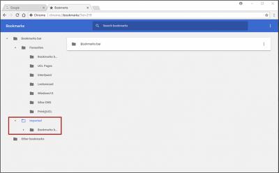 Restoring Chrome bookmarks step 6 screenshot