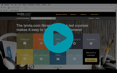 Learning with Lynda.com video screenshot