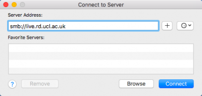 Connect to Server on MacOS Sierra