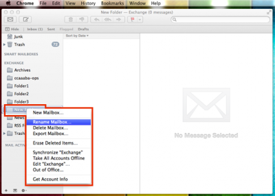 Rename a folder in Mac Mail | Information Services Division