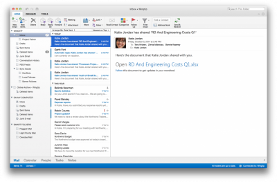 Outlook for Mac…