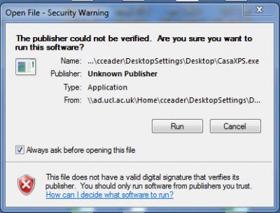 CasaXPS Open file screenshot