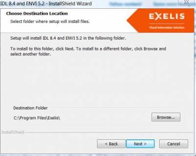 IDL & Envi Destination Folder…