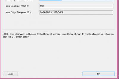 Origin Setup: Licence details screen…