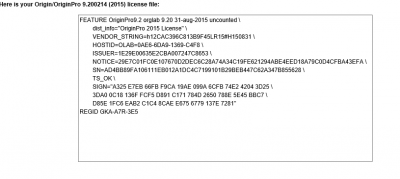 Origin Setup: Licence File copy screen…