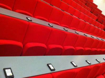 Image of the handsets installed in the Auditorium…