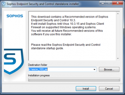 How to install Sophos for Windows | Information Services
