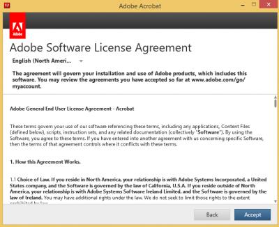 Adobe license agreement…