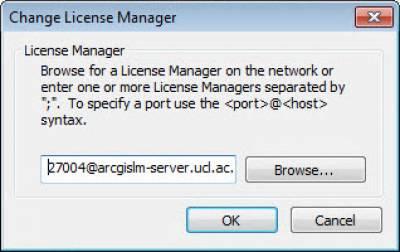 Enter Licence Manager Details…