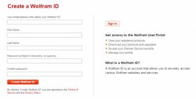 Create a Wolfram ID…