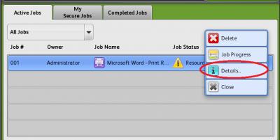 Active jobs list…