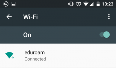 connected eduroam…
