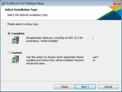 Select installation type…