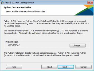 Select Python destination folder…
