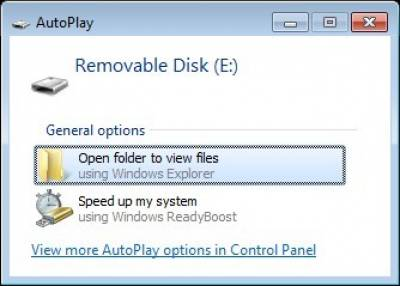 Autoplay pop-up screen options…