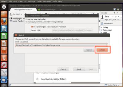 Fig 7. EWS server location box