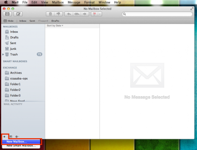 Create a new folder in Mac Mail | Information Services Division