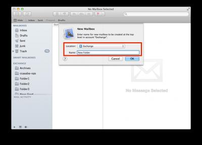 Fig 2. New Mailbox window…