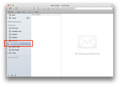 Fig 3. Example of a new folder in the folder list…