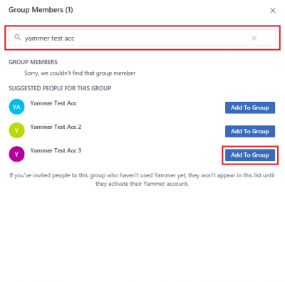 Fig 3. Add new member within Group Members window…