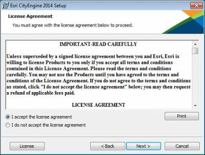 Accept Licence Agreement…