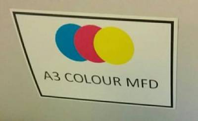 Colour MFD label…