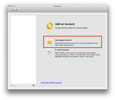 Add your account/log in to Outlook 2011 | Information Services