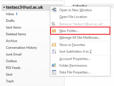 Fig 1. Location of the New Folder option on the right-click menu…