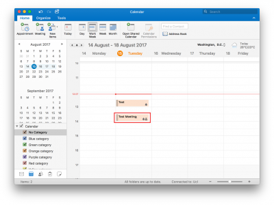 Fig 3. Example of a new meeting in a calendar…