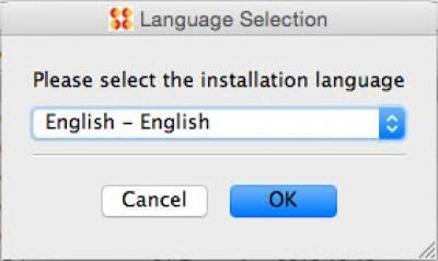 Select Installation Language…