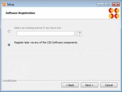 Register Later with Serial Key…