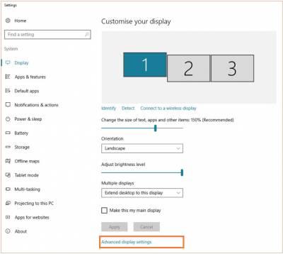 Desktop@UCL Windows 10 adjust resolution advanced settings…