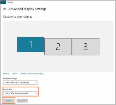 Desktop@UCL Windows 10 adjust resolution apply settings…
