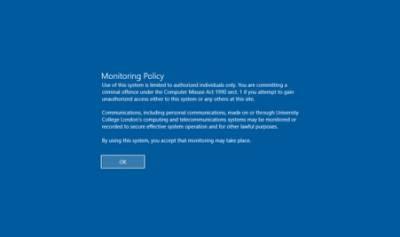 Desktop@UCL Windows 10 login security policy…