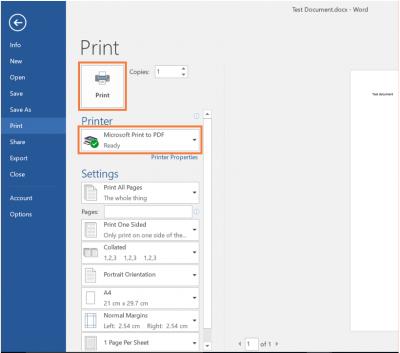 Desktop@UCL Windows 10 PDFs Word 2016 Microsoft Print to PDF…