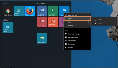 Desktop@UCL Windows 10 resize Tile…