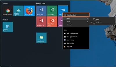 Desktop@UCL Windows 10 Unpin from Start…