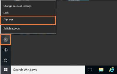 Desktop@UCL Windows 10 sign out…