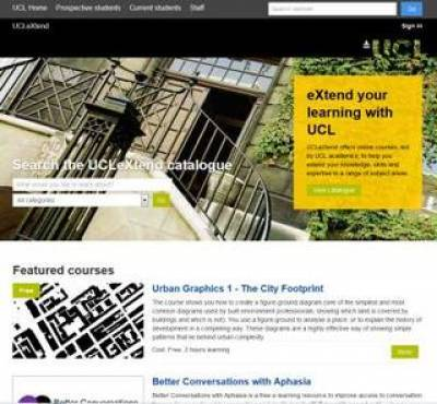 UCLeXtend homepage image…