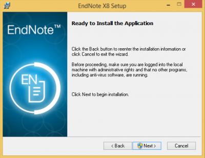 Ready to Install Application…