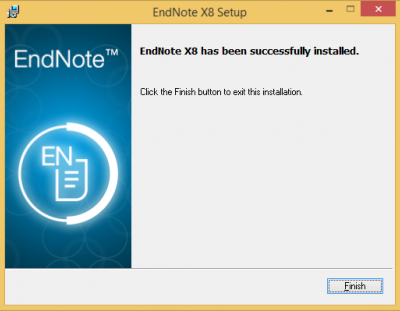 Endnote has been successfully installed…
